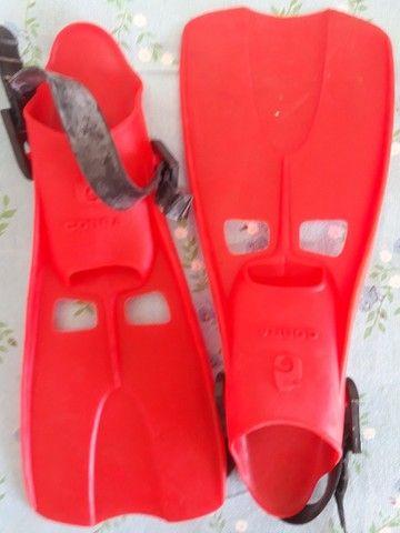 Roupa de Mergulho 6mm Park Way Design bota 5mm (M)- Nadareiras Rondine 34/37/41+snorkel  - Foto 4