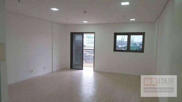 Conjunto, 43 m² - venda por R$ 180.000,00 ou aluguel por R$ 1.800,00/mês - Valongo - Santo - Foto 2