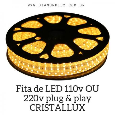 Fita de LED 110V OU 220v plug & play