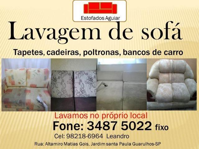 Lavagem/higienização de sofá