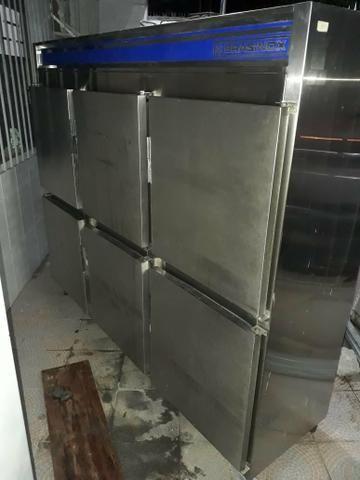 Freezer com 6 portas de inox/restaurantes/bares/lanchonete etc