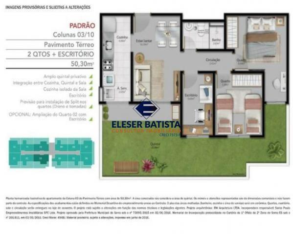 Apartamento à venda com 3 dormitórios em Condomínio vista limoeiro, Serra cod:AP00071 - Foto 20