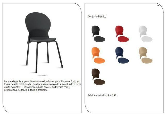 Cadeiras de escritório, linha office, praça alimentação, cadeira - Foto 5