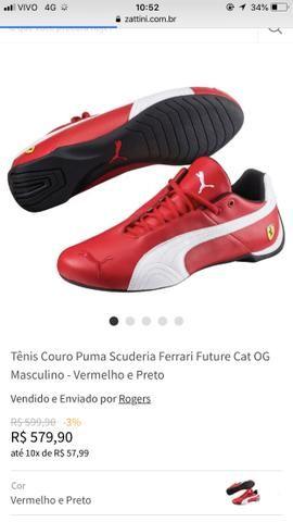 60c6e69509 Tênis pulma Ferrari n?34 - Roupas e calçados - Jardim Paulista ...