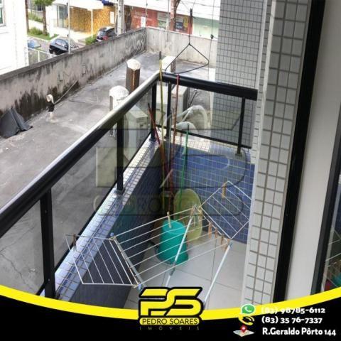 Flat com 1 dormitório para alugar, 1 m² por R$ 2.200,00/mês - Tambaú - João Pessoa/PB - Foto 17
