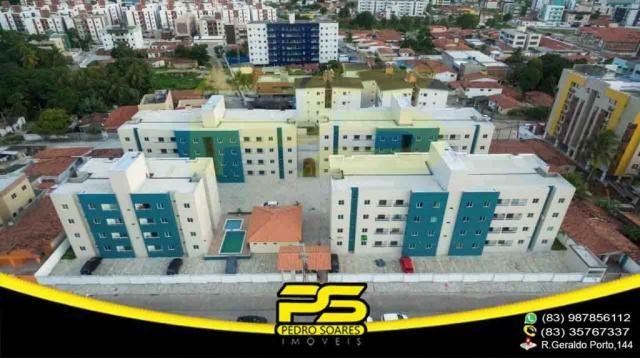 Apartamento novo, 02 quartos, piscina, churrasqueira, espaço gourmet, playground, 45,80m²  - Foto 16