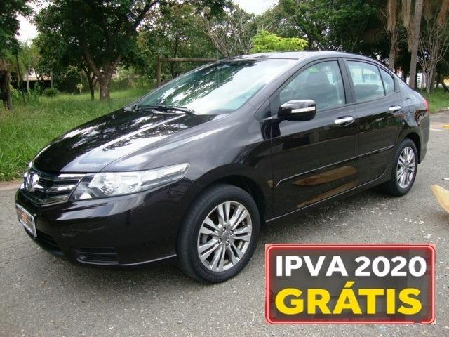 Honda city ex 1.5 automatico - 2013 - completo + paddle shift - ipva pago 2020