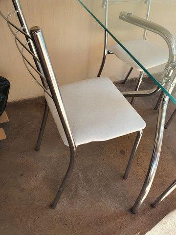 Mesa cromada 4 cadeiras - Foto 2