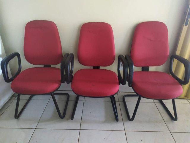 Cadeira presidente fixa - Foto 2