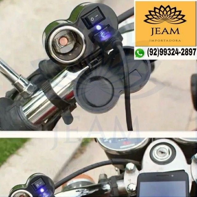 Carregador de Celular Gps Para Moto <br> - Foto 6