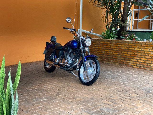 Moto Sundown V Blade Custom 2008 cheia de acessórios, apenas 3.000 Km!  - Foto 4