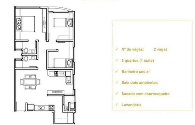 Apartamento em Jardim Carvalho, Ponta Grossa/PR de 90m² 3 quartos à venda por R$ 200.000,0 - Foto 12