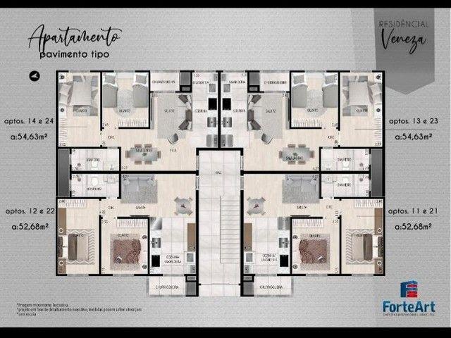 Apartamento em Planta Bairro Weissópolis, Pinhais/PR de 52m² 2 quartos à venda por R$ 196. - Foto 3