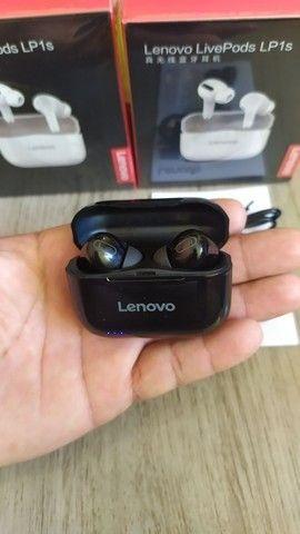 Fone bluetooth Lenovo LP1S tws (LivePods)-siri-redução de ruído-9.0 - Foto 4