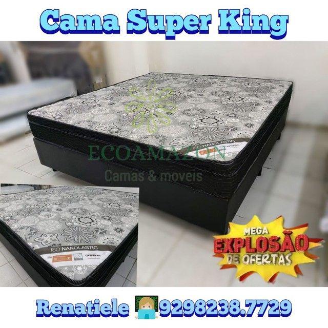 Cama Super king iso nanolastic + 2 travesseiros de brinde