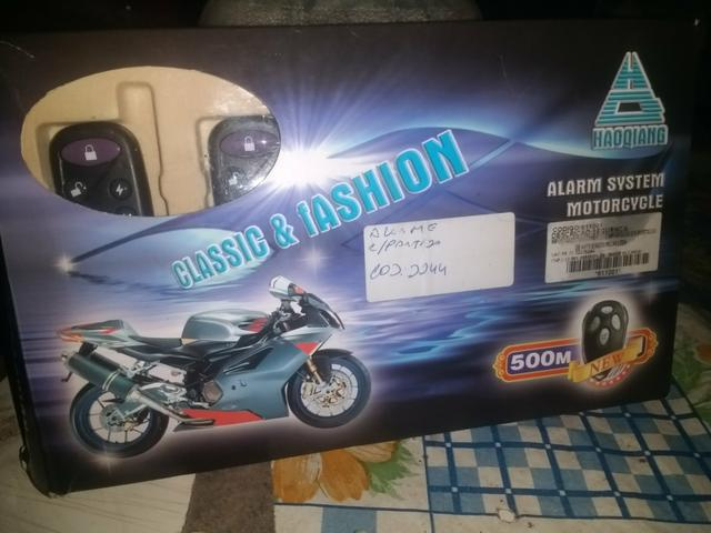 Alarme para moto com partida nu plástico ainda