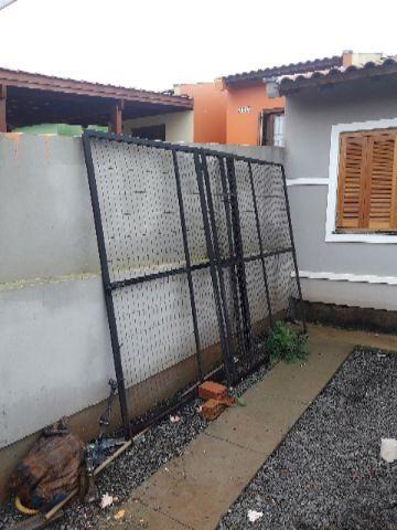 Portão de ferro completo