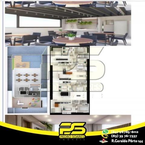 Flat com 3 dormitórios à venda, 60 m² por R$ 265.524 - Jardim Oceania - João Pessoa/PB - Foto 2