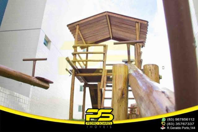 Apartamento novo, 02 quartos, piscina, churrasqueira, espaço gourmet, playground, 45,80m²  - Foto 13
