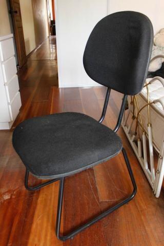 Cadeira de Escritório em Tecido Preto Fixa Office - Foto 3