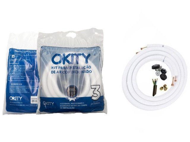 Kit Instalação Ar Condicionado Split 7/9.000btus 1/4e3/8 3m