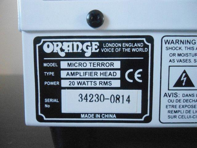 Cabeçote pre valvulado Orange Micro Terror  - Foto 3