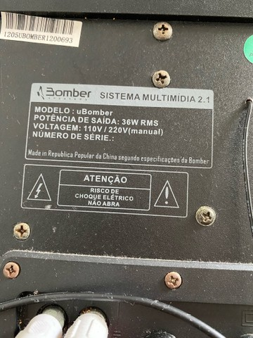 uBomber - sistema multimídia 2.1 - Foto 4