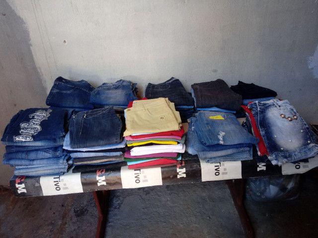 Lote 90 peças calsas jeans