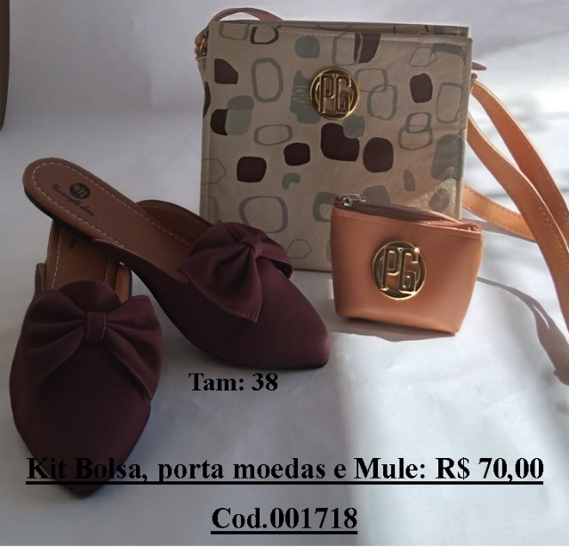 Kit Mule + bolsa + porta moedas. - Foto 2