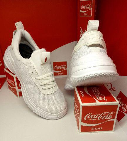 Tênis Coca-Cola mantra branco