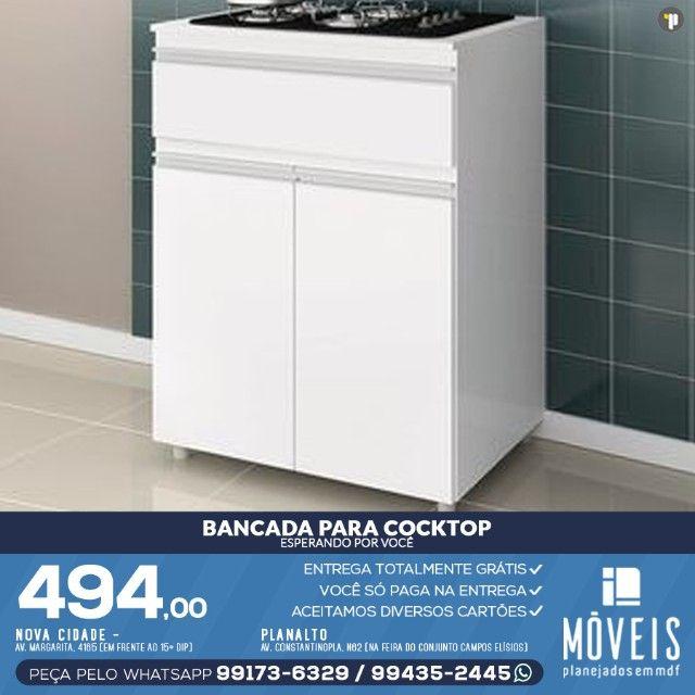 Armário para cooktop, forno e microondas 100% em MDF - Foto 3