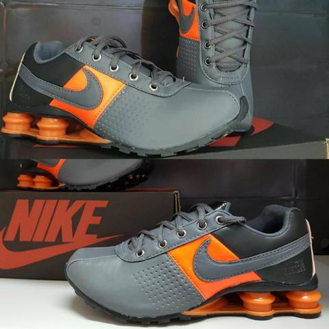 Nike Shox cinza e laranja do 38 ao 43