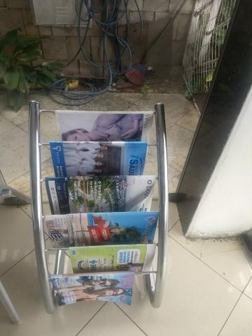Porta revista de inox