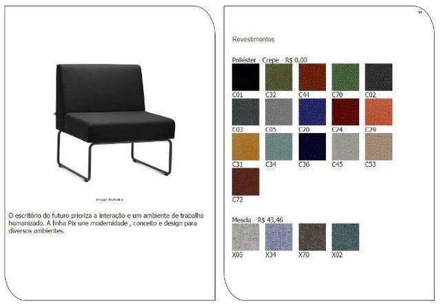 Cadeiras de escritório, linha office, praça alimentação, cadeira - Foto 6