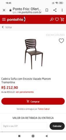 Cadeiras Tramontina e mesas madeira