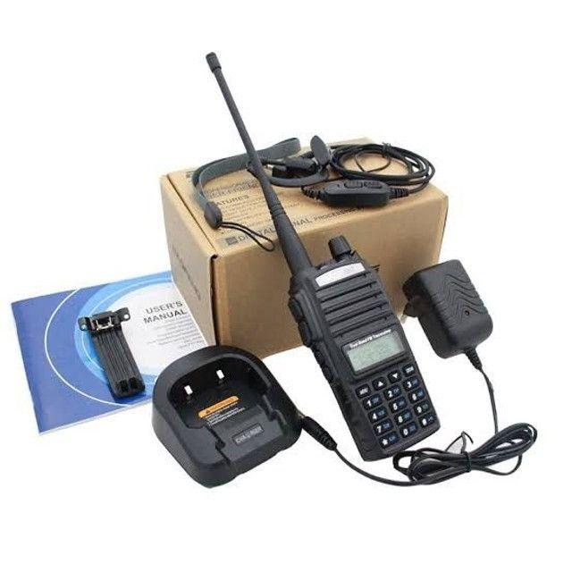Rádio Comunicador Baofeng Uv-82 Dual Band Rádio Fm Com Fone - Foto 2