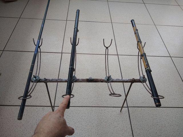 Suporte de varas de pesca. - Foto 5