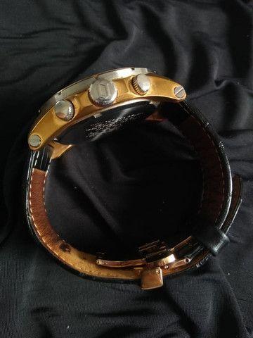 Relógio Orient Cronográfo Seminovo Com Pulseira De Couro - Foto 6