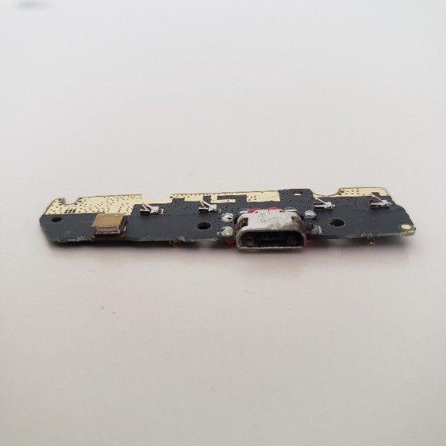 Conector quebrado - Placa Conector Carga Motorola Moto G6 Play XT1922-5 - Foto 3