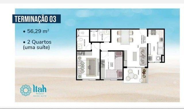 Flat com 2 dormitórios à venda, 56 m², térreo por R$ 630.000 - Praia Muro Alto, piscinas n - Foto 13
