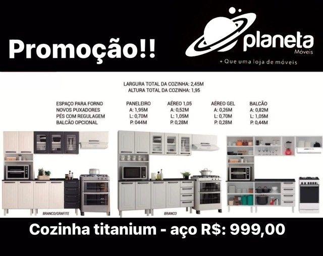 Cozinha titanium aço