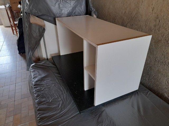 Móvel para Micro-Ondas ou Forno Branco e Preto - Foto 5