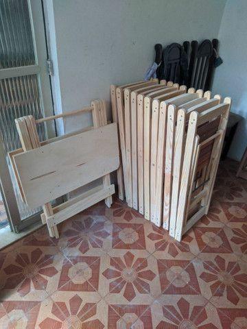 Conjunto de mesa e cadeiras pinho - Foto 4