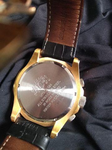 Relógio Orient Cronográfo Seminovo Com Pulseira De Couro - Foto 5