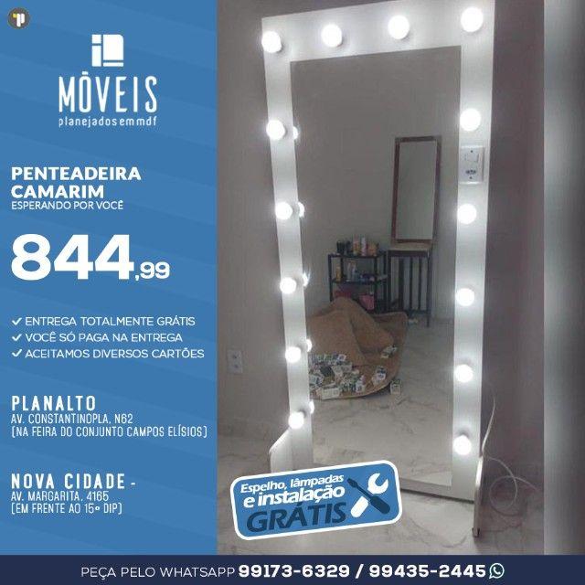 Espelho Camarim 100% MDF / Espelho + prateleiras - Foto 5