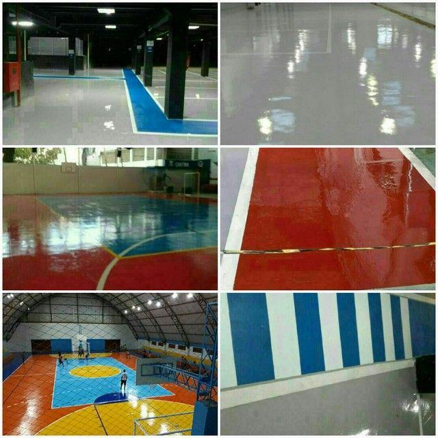 serviço pintura em epóxi  piso concreto