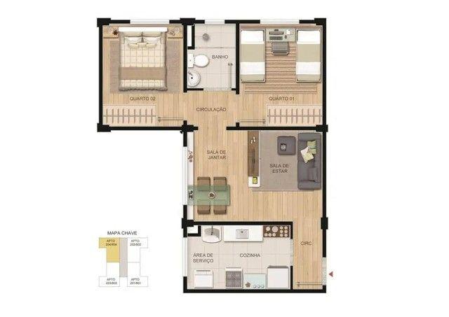 Apartamento em Jardim Imperial, Lagoa Santa/MG de 47m² 2 quartos à venda por R$ 120.900,00 - Foto 4