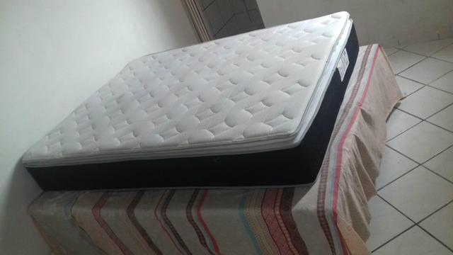 Cama box de casal + as bases semi nova