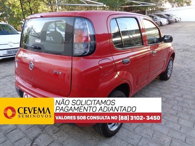 Fiat Uno Drive 1.0 - Vermelho - Foto 4