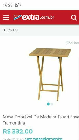 Cadeiras Tramontina e mesas madeira - Foto 2